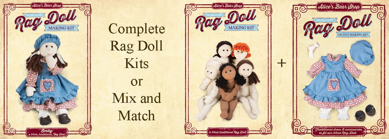 Rag Doll Making Kits and Patterns