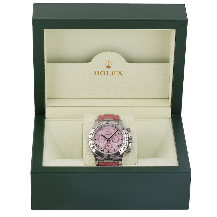 Rolex Oyster Perpetual Daytona Beach pink mother of pearl ref 116519 with box