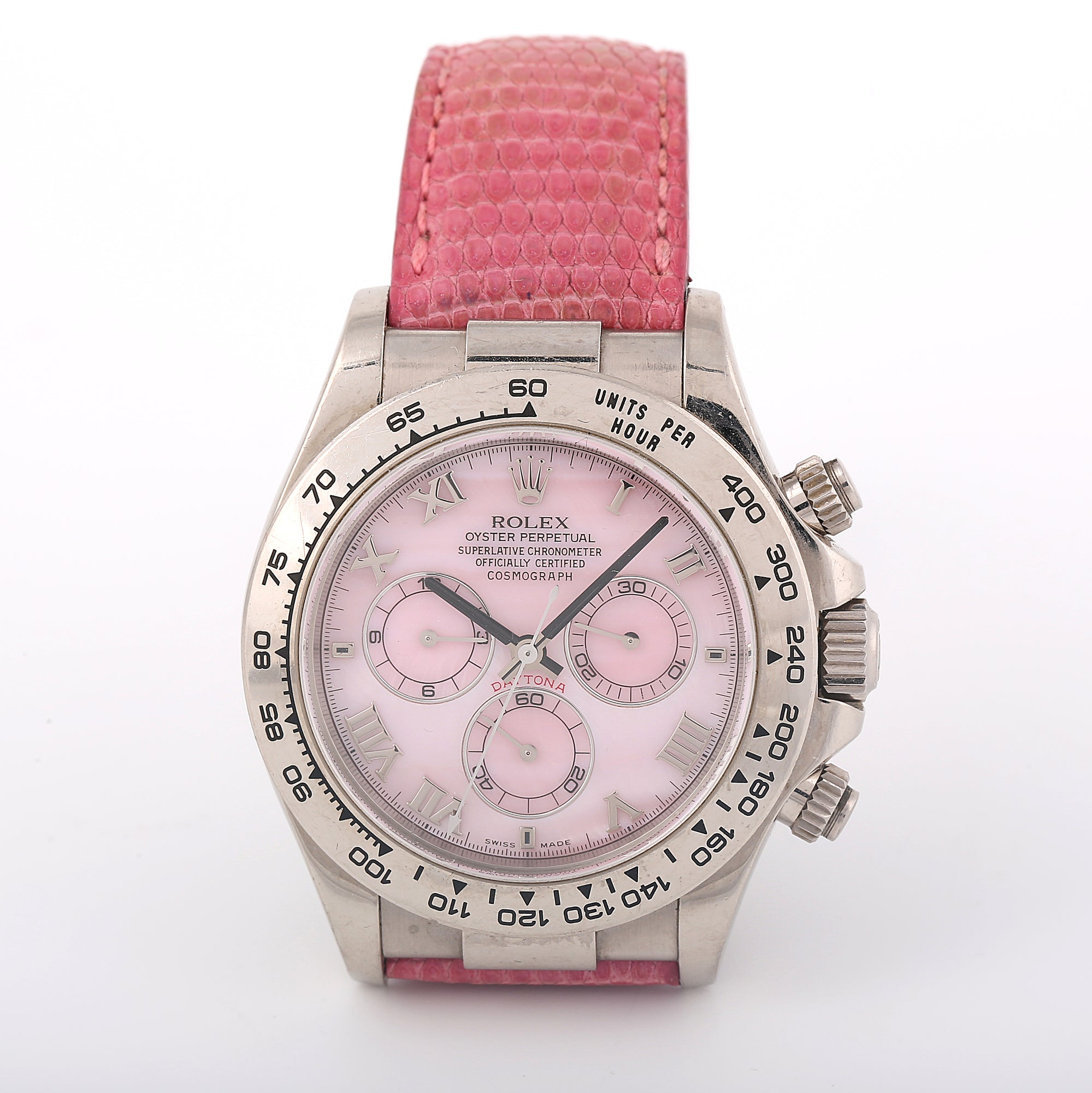 Rolex Oyster Perpetual Daytona Beach Pink Mother Of Pearl Ref 116519