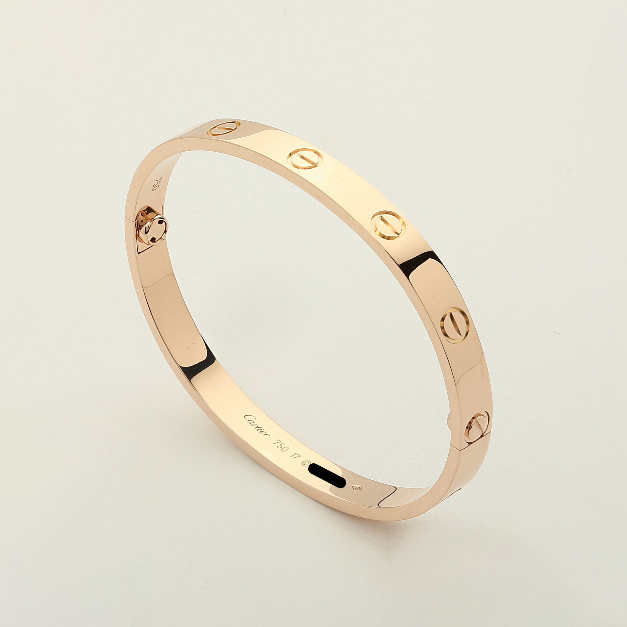 bangle jewelry love enlarged bangles tone cartier products the bracelets bracelet two diamond