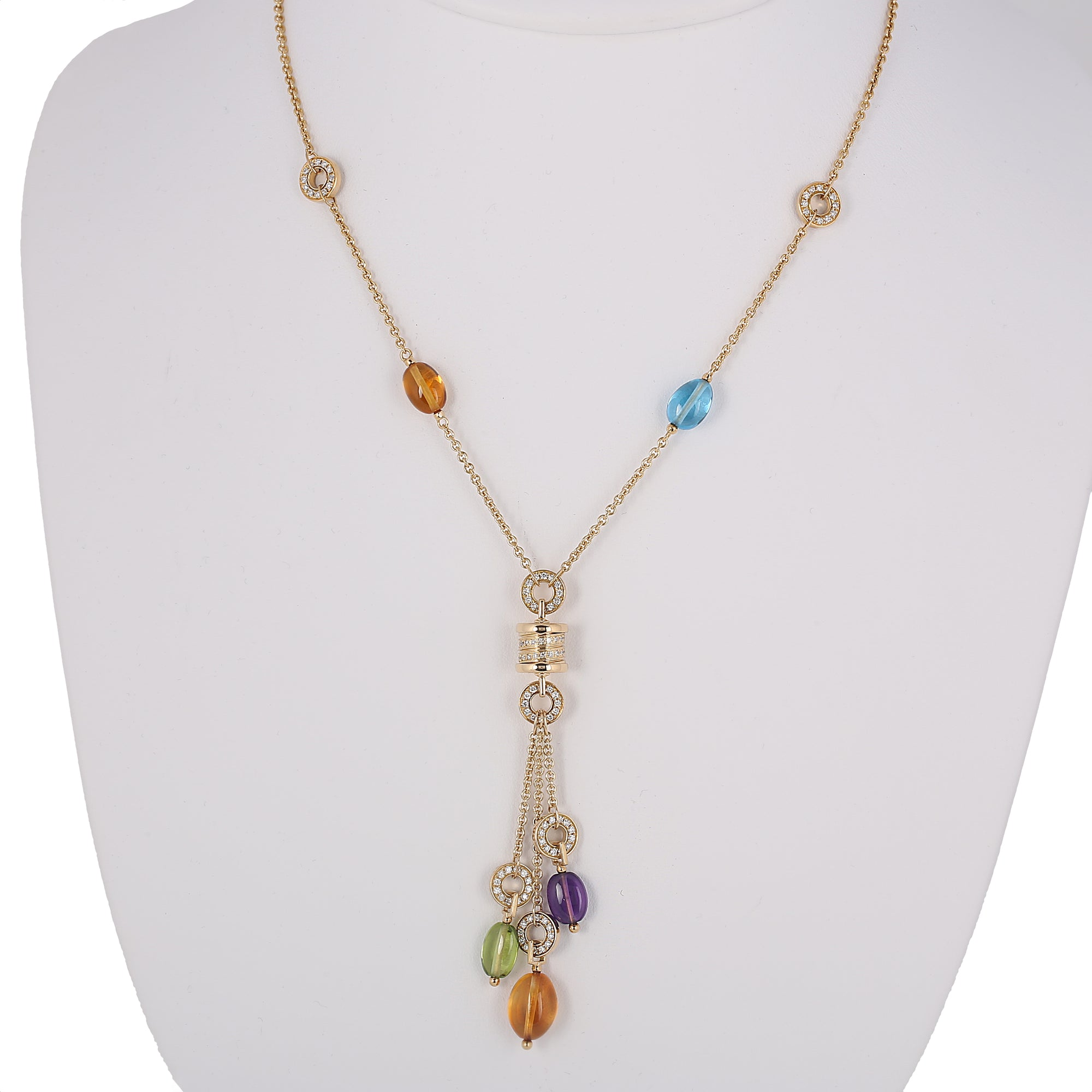 gemstone dabakarov necklace multi gold in stone yellow