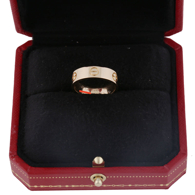 18k Yellow gold Cartier Love ring. size 54 EU 7 US box & papers year 2017