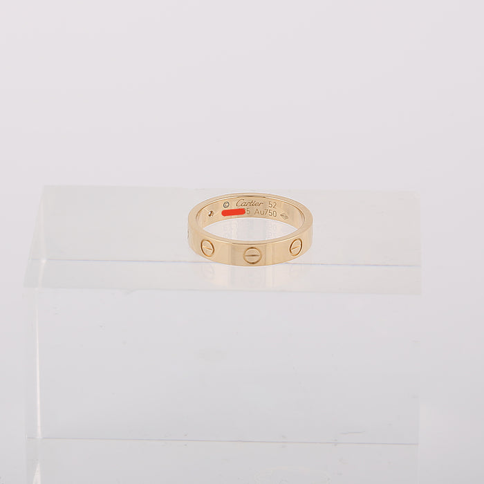 18k yellow gold Cartier love wedding band one diamond size 52EU 6.25US box cert - Terrafinejewelry