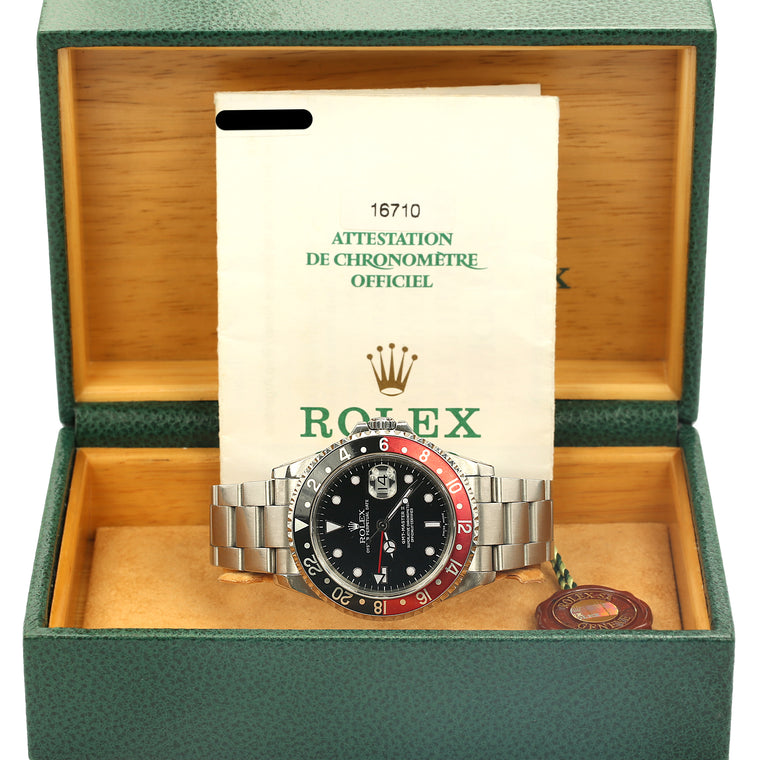 Stainless steel Rolex GMT Master II