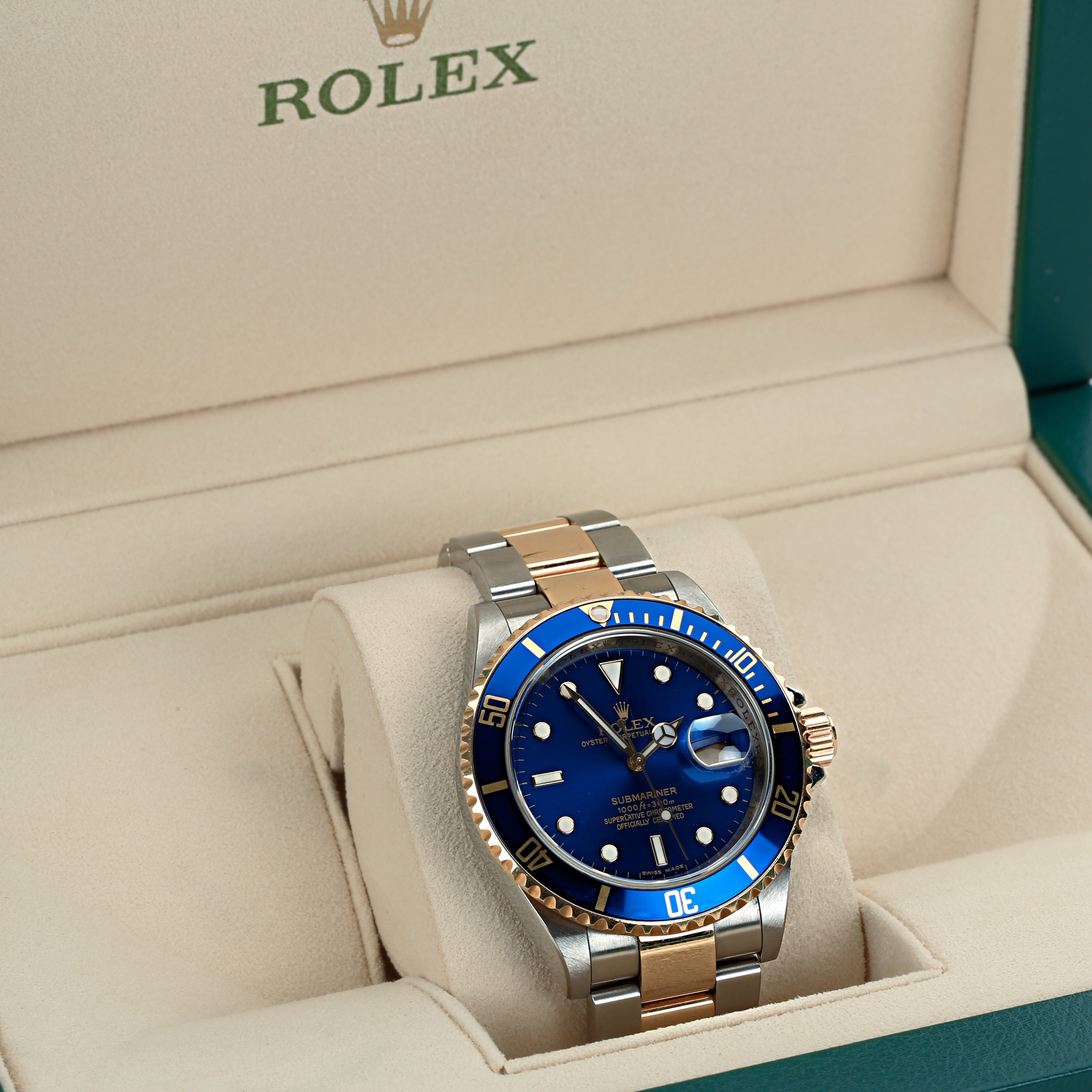 Rolex submariner 16613 two tone M serial 2008 with box and authenticity letter - Terrafinejewelry