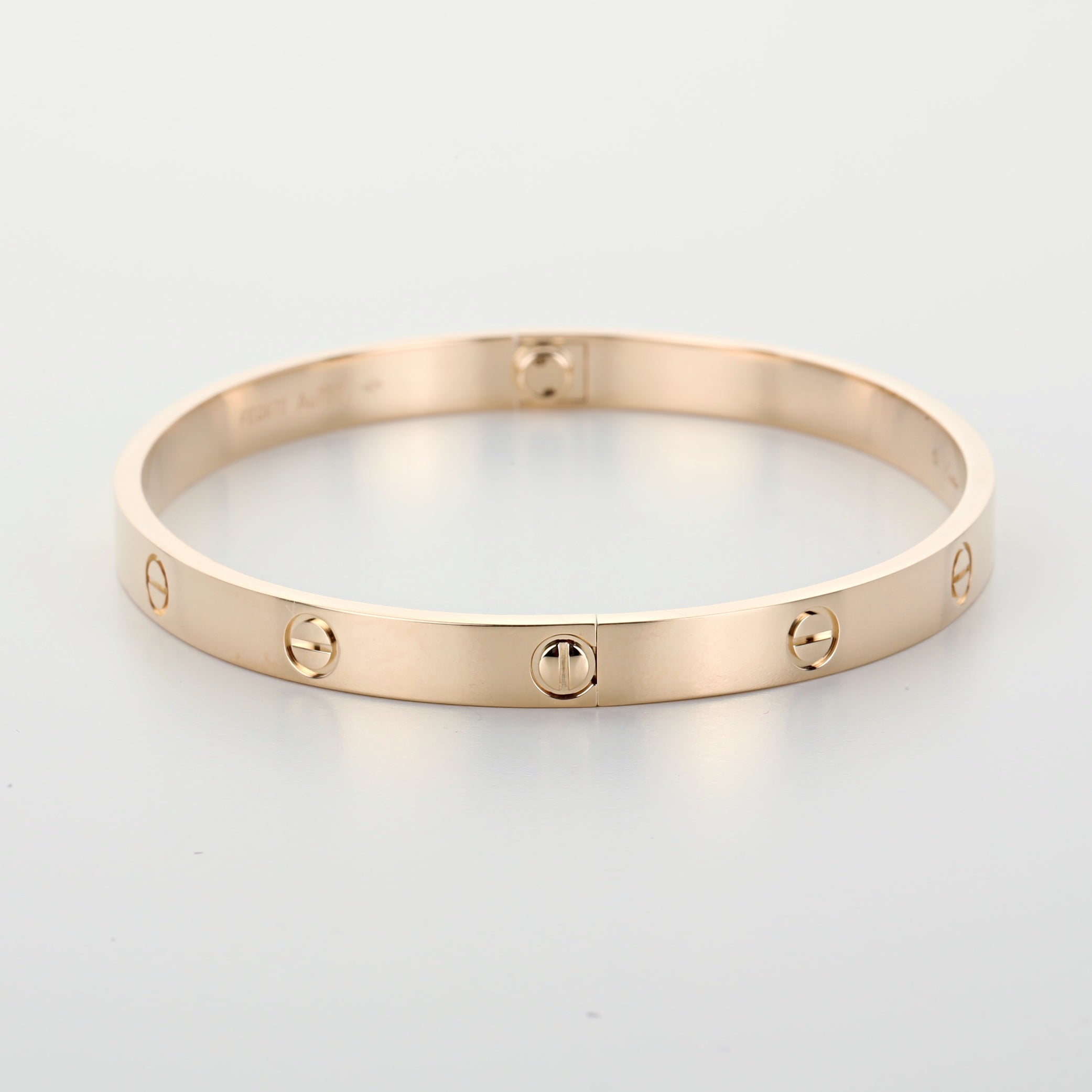 18k yellow gold Cartier Love bangle bracelet size 21 new style 2018 box & papers