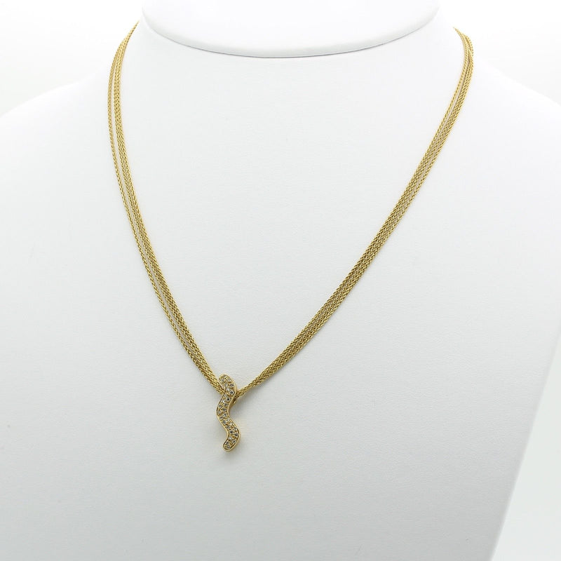 Antonini Journey Three Chain Necklace Pendant in 18k Yellow Gold & Diamond - Terrafinejewelry