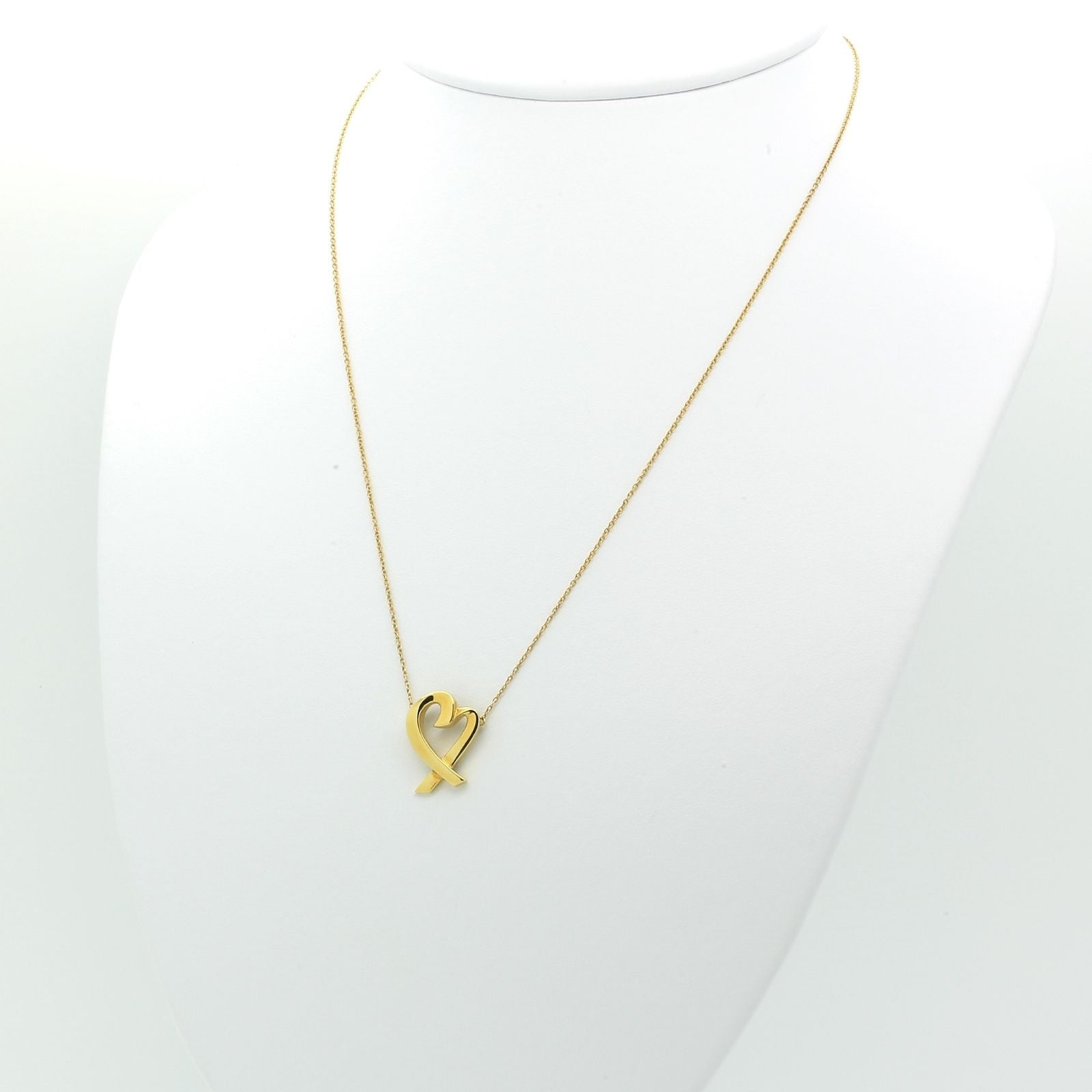 Tiffany co paloma picasso loving heart necklace pendant in 18k tiffany co paloma picasso loving heart necklace pendant in 18k yellow gold aloadofball Image collections