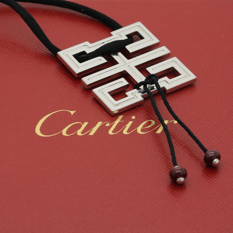 Cartier Le Baiser du Dragon Necklace in 18k White Gold & Ruby. In Box.