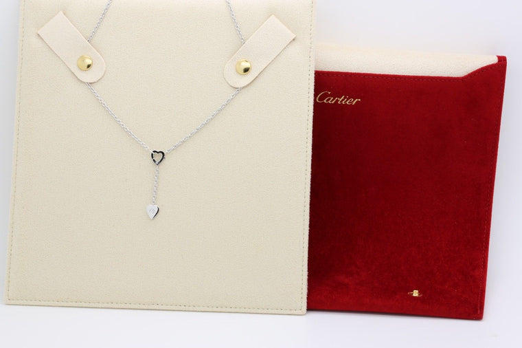 Cartier Mon Amour Lariat Necklace in18k White Gold & Diamond