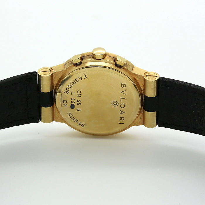 Bvlgari (Bulgari) Diagono Chronograph Watch in 18k Yellow Gold CH 35 G - Terrafinejewelry