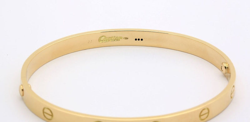 Cartier Love bracelet in 18k yellow gold size 21 classic screw system - Terrafinejewelry