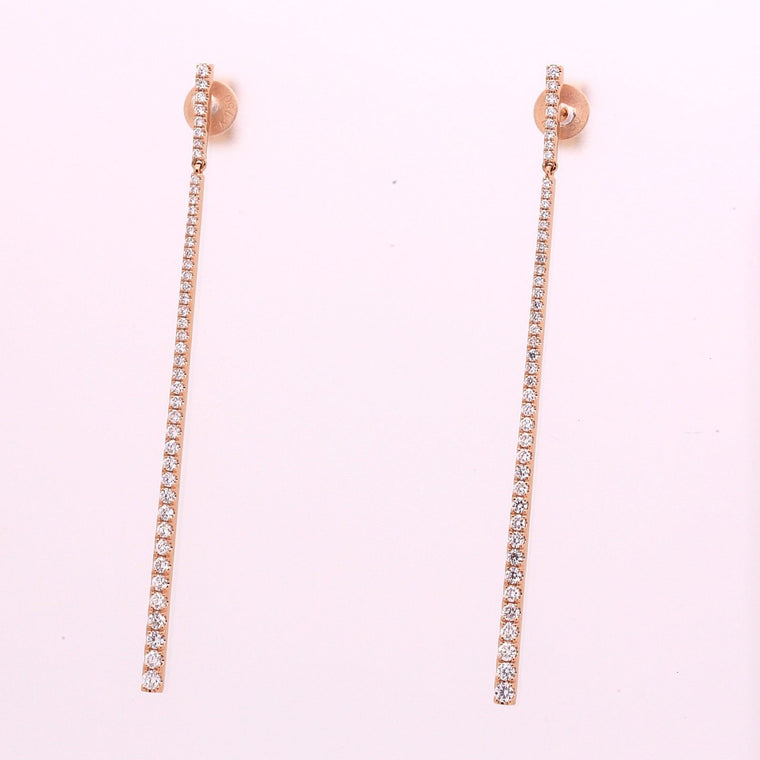 New Diamond Earrings made in solid 18k Rose Gold