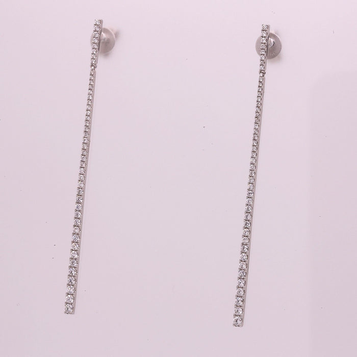 New Diamond Earrings made in solid 18k White Gold - Terrafinejewelry