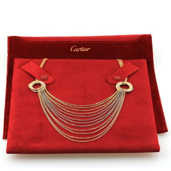 Cartier Trinity Gold Necklace / chain in 18k Yellow, White & Rose Gold. like new
