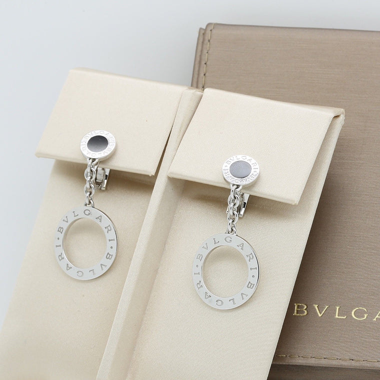 Bvlgari Bvlgari Revamping Earrings in 18k White Gold & Black Onyx
