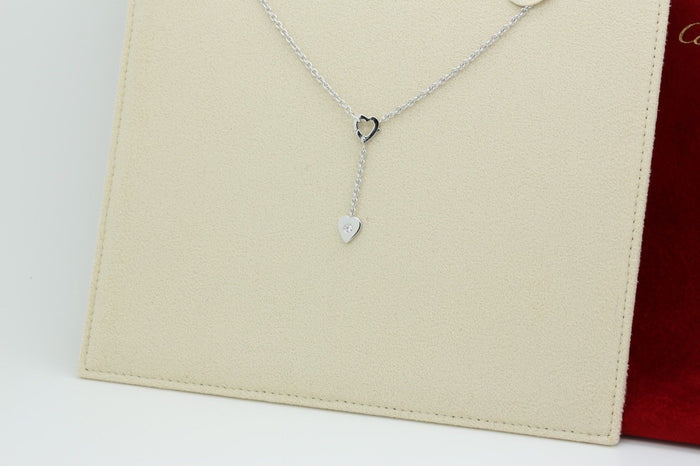 Cartier Mon Amour Lariat Necklace in18k White Gold & Diamond - Terrafinejewelry