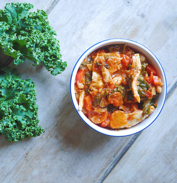 Chicken, Kale & Bean Stew with Quinoa