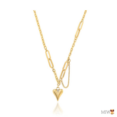 TERES Heart Link Chain Necklace
