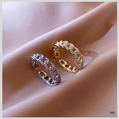 FYRA Crystal Chain Ring