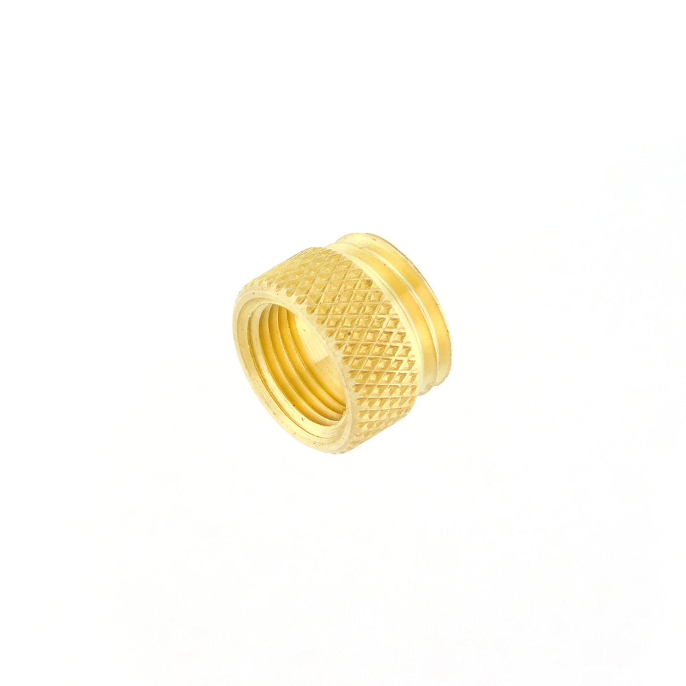Adapter, Brass, 3/8-32 to 7/16-20
