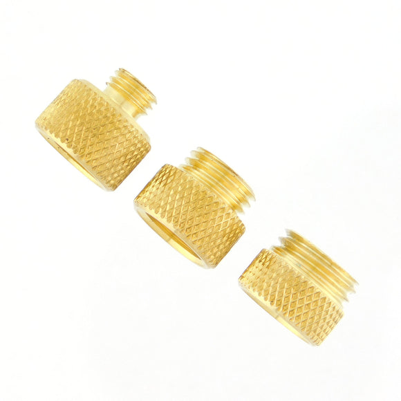 Adapters, 3 Pack, 3/8-32 SPL to 1/4-28, 3/8-24, 7/16-20 Threads