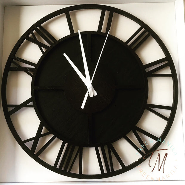 Roman Numeral Clock - Double Layer Acrylic