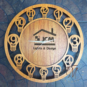 Custom Design Cut Clock