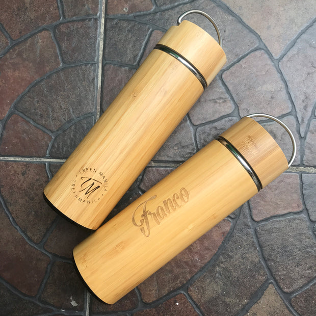 Bamboo Tumbler with Handle