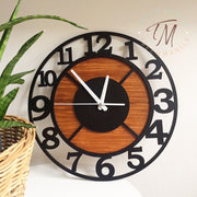 Number Cut Clock - Double Layer