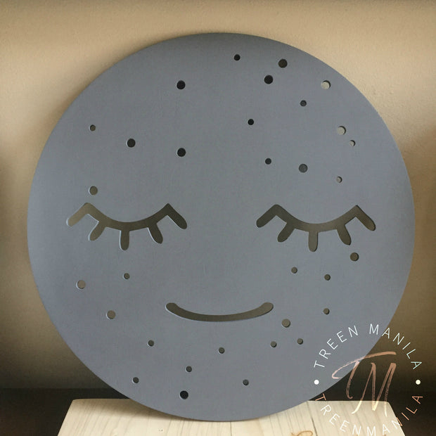 Sleepy Cloud Face Wall Clock or Decor