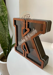 Wooden Letter Coin Bank