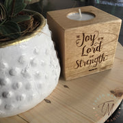 Tealight Candle Blocks - Personalized