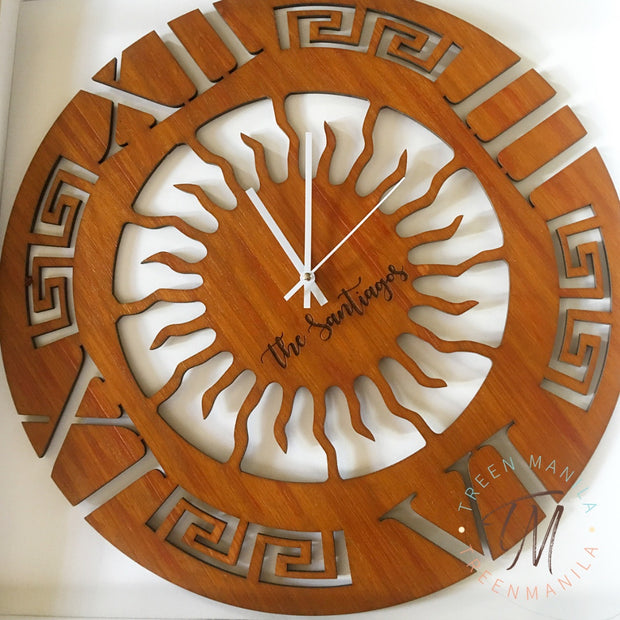 Greek Design Clock
