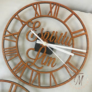 Roman Numeral Cut Out Clock