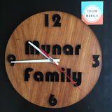 Solid Cut Clock