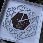 Modern Hexagon Clock