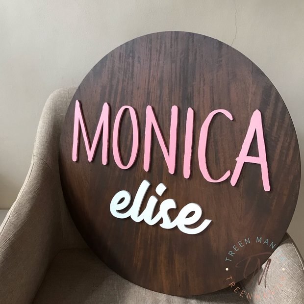3D Personalized Name Sign