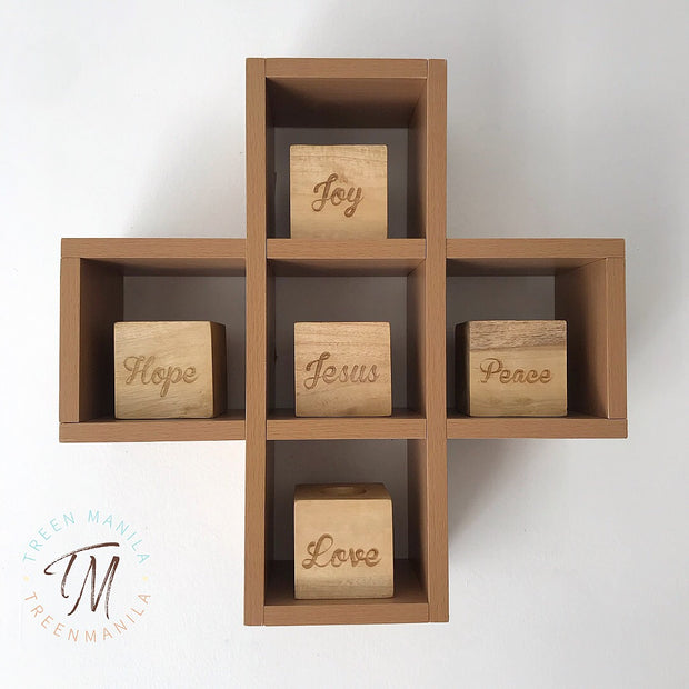 Advent Tealight Blocks