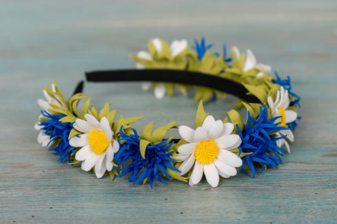 Bespoke Daisy and Cornflower Handmade Headband