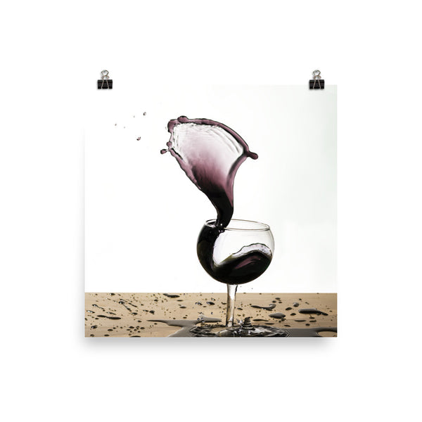 Print - Red Wine Glass Spill