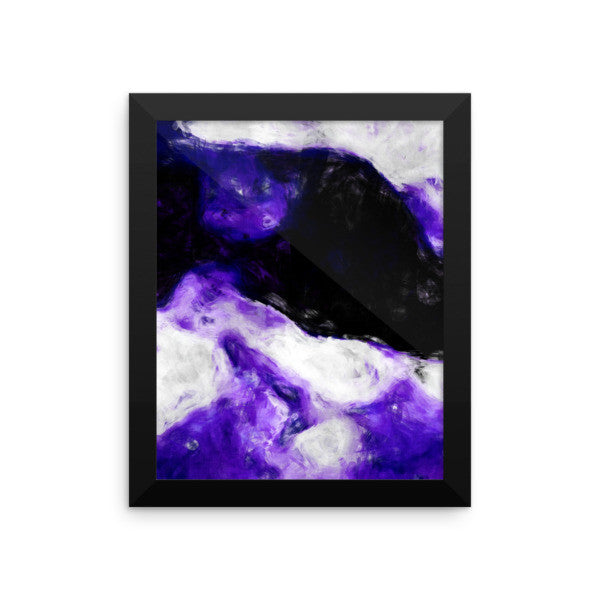 Framed Print - Abstract Wine In Bed