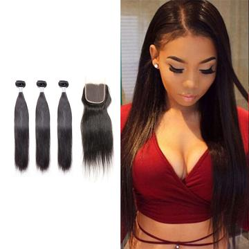 9A Brazilian Straight (FREE Lace Closure)