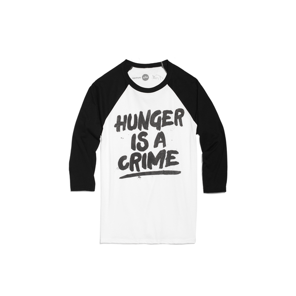 "2018 Tom Morello ""Hunger Is A Crime"" Raglan"