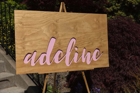 wood name sign, wood birthday sign, first birthday, unicorn party sign, rainbow party sign, birthday name sign