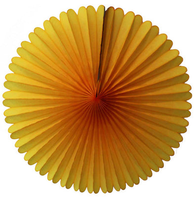 Golden Yellow Pinwheel Fan - 13""