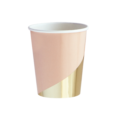 "Peach and Gold ""Goddess"" Cups"