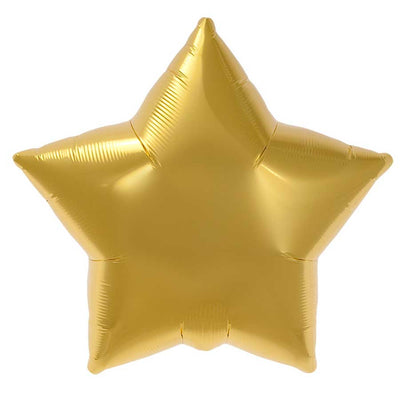 Gold Star Balloon - Mylar