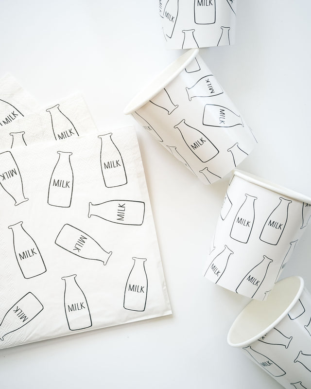 Milk Bottle Napkins