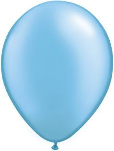 Pastel Pearl Blue Latex Balloons - 11""